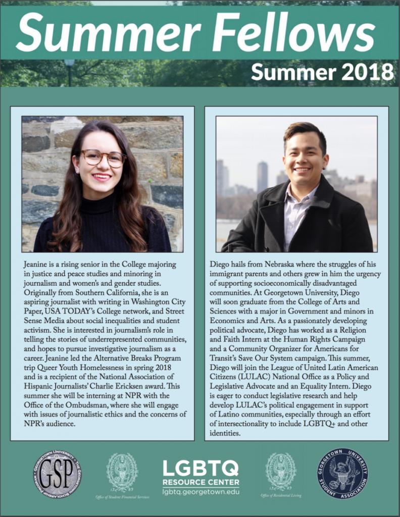 Summer Fellows 2018
