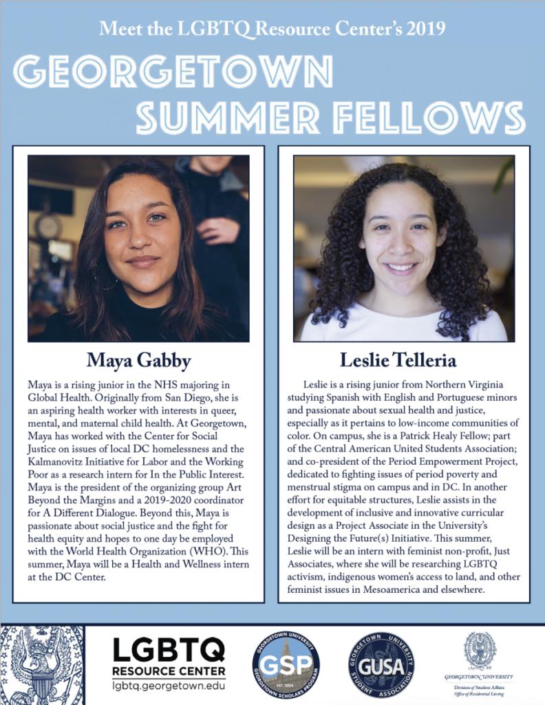 Summer Fellows 2019